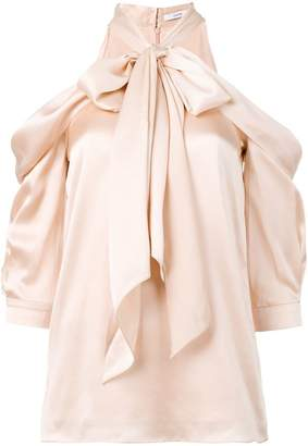 Erdem cold shoulder bow blouse