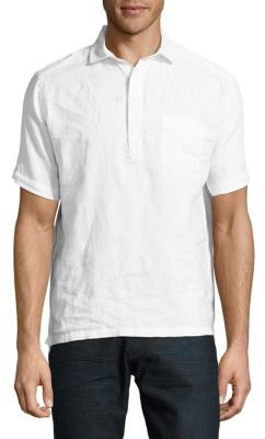 Solid Linen Popover Shirt $70 thestylecure.com