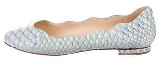 Alexandre Birman Round-Toe Python Flats