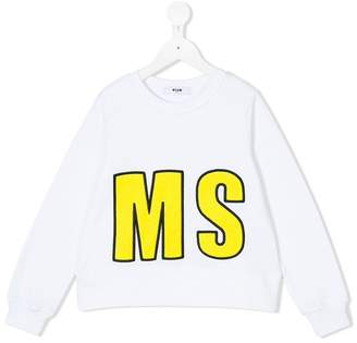 MSGM logo patch embroidered sweatshirt