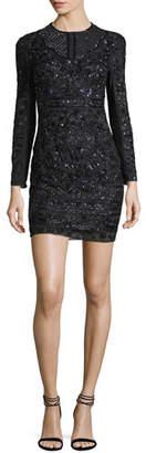 Needle & Thread Midnight Lace Cocktail Dress W/ Embellishments