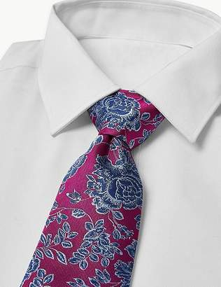 Marks and Spencer Pure Silk Rose Floral Tie