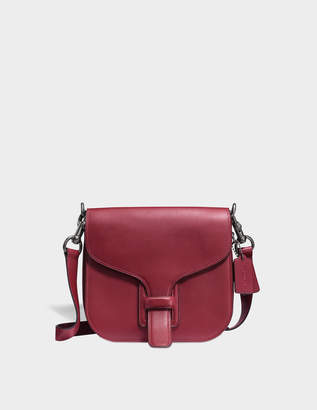 Coach Courier Crossbody Bag in Brown Calfskin
