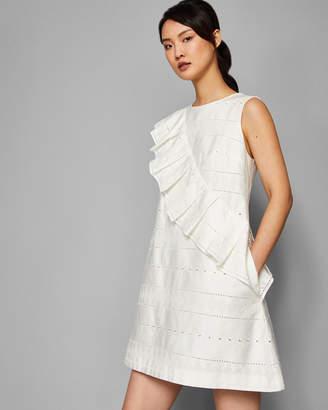 Ted Baker MAHLENE Oversized ruffle A-line cotton dress