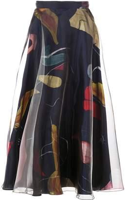 Roksanda flared patterned skirt