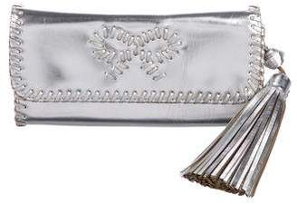 Anya Hindmarch Metallic Tassel Clutch