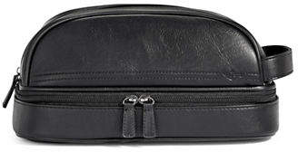 Dockers Leather Top Bottom Zip Pouch