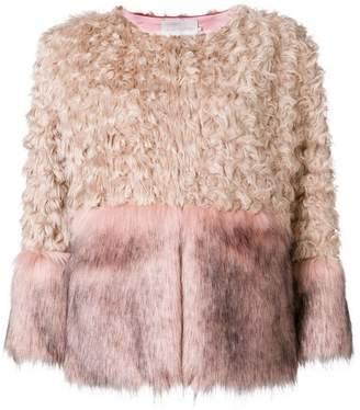 L'Autre Chose faux fur panelled jacket