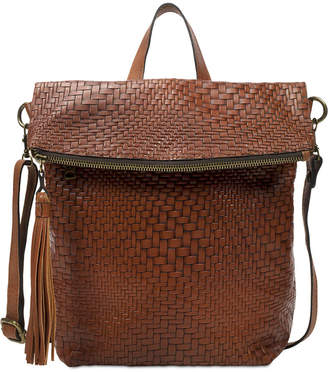 Patricia Nash Luzille Convertible Woven Leather Backpack 0e48eec73ac93