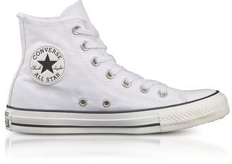 Converse Limited Edition Chuck Taylor All Star High White Canvas Sneakers