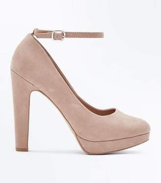New Look Wide Fit Nude Platform Round Toe Heels