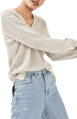 Women's Topshop Ribbed V-Neck Sweater $80 thestylecure.com