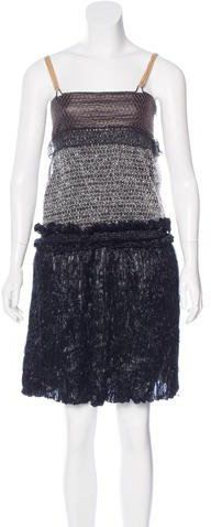 Balenciaga  Balenciaga Textured Mini Dress