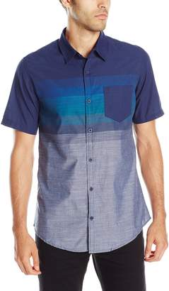 Burnside Men's Prime Short Sleeve Fashion Woven, Navy