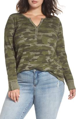 Lucky Brand Camo Thermal Henley