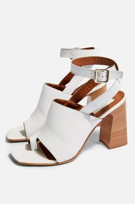 9578ceffc382 White Block Heel Sandals For Women - ShopStyle UK