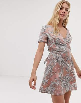 Parisian paisley print dress
