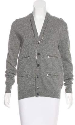 Marc Jacobs Zip-Accented Wool Cardigan