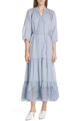 Apiece Apart Granada Eyelet Maxi Dress