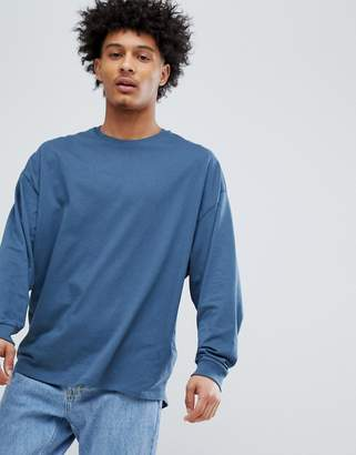 Asos DESIGN oversized long sleeve t-shirt with cuffs