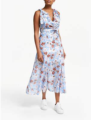 Great Plains Tulum Floral Dress, Blue