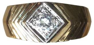 Men's 14K 'ART DECO' SOLITAIRE DIAMOND RING (0.40 CT)