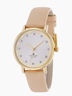 Kate Spade metro scallop vachetta leather watch