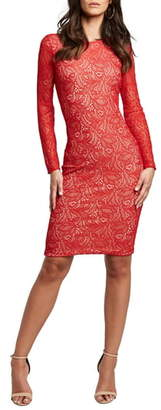 Bardot Rini Lace Long Sleeve Body-Con Dress