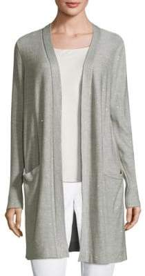 Lafayette 148 New York Long Sequin Cardigan