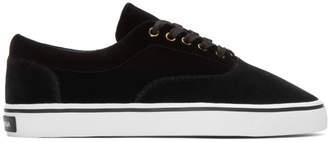 Dolce & Gabbana Black Velvet Sneakers