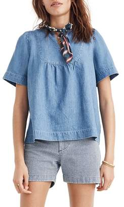 Madewell Denim Popover Swing Top