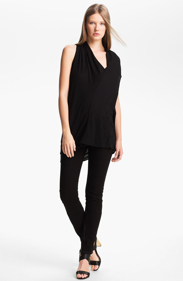 Rachel Zoe 'Denise' Asymmetrical Cotton Top