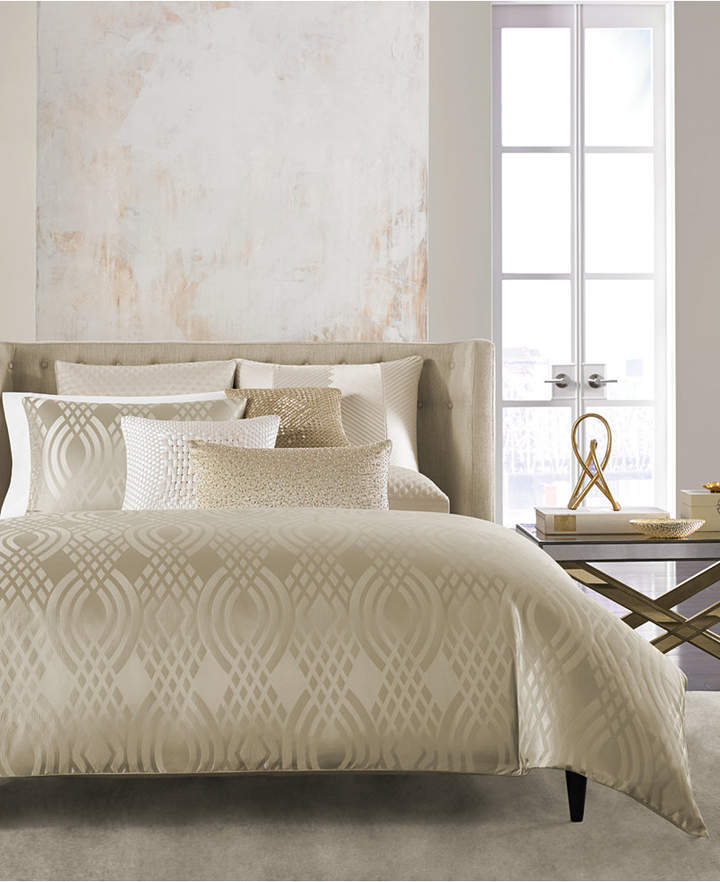 Hotel Collection Dimensions Champagne King Duvet Cover
