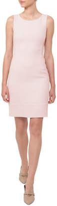 Akris Round-Neck Sleeveless Wool Crepe Sheath Dress