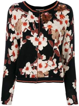 Twin-Set floral sequinned cardigan