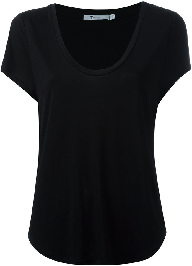 Alexander Wang Alexander Wang scoop neck T-shirt