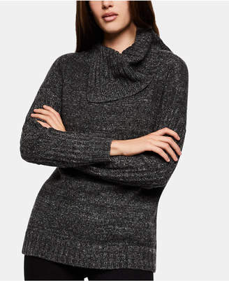 BCBGeneration Asymmetrical Cowl-Neck Sweater