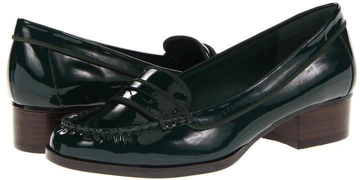 LAUREN Ralph Lauren - Pia (Bottle Green Patent) - Footwear