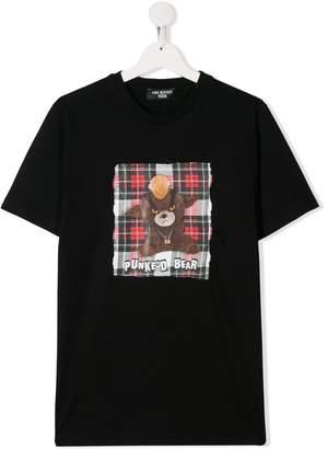 Neil Barrett Kids Punked Bear T-shirt