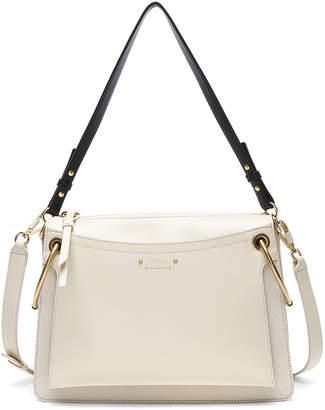 Chloé Medium Roy Calfskin & Suede Shoulder Bag