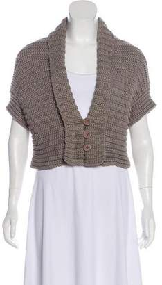 Brunello Cucinelli Shawl Collar Short Sleeve Cardigan