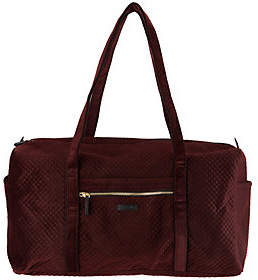 Vera Bradley Iconic Velvet Large Zip Top TravelDuffel
