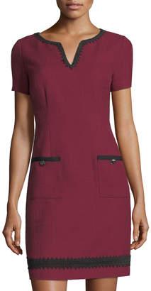 Karl Lagerfeld Paris Short-Sleeve Tweed Sheath Dress