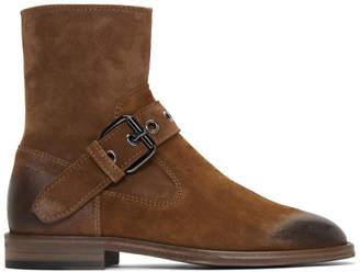 Maison Margiela Brown Buckle Ankle Boots