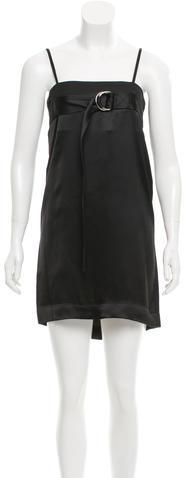 CelineCéline Belted Satin Dress