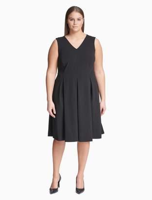 Calvin Klein plus size puff short sleeve dress