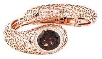 Di Modolo Sahara Snake Smoky Quartz & Diamond Cuff