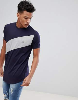 Le Breve Diagonal Panel T-Shirt
