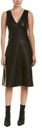 Diane von Furstenberg AS by As By Miss Grey Leather Shift Dress