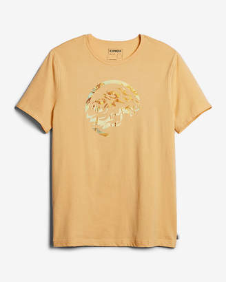 Express Tropical Lion Logo Graphic Tee